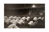 Samaritans Bow Toward Mount Gerizim to Pray During Passover Photographic Print by Thornton Oakley