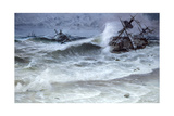 The 1715 Spanish Plate Fleet Wrecks on Floridian Reefs in a Hurricane Giclee Print by Tom Lovell
