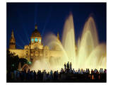 Fountain Montjuic, Barcelona Print