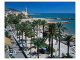 Seaside Promenade Sitges Spain Prints