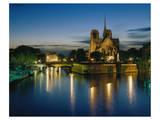 Notre Dame Seine River, Paris Posters