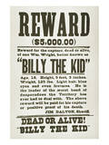 Wanted Poster For Billy the Kid Prints