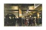 Commuters Hurry on a Crowded Subway Station Platform Photographic Print by Thornton Oakley