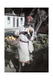 An Indian Man Sells Fruit on Durban Streets Photographic Print by Melville Chater
