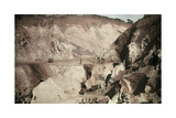 Miners Work to Extract Chrome Iron Ore for Foreign Industries Photographic Print by Melville Chater