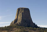 A Scenic View of the Devil's Tower in Warm Sunlight Photographic Print by Sergio Pitamitz