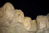 Low Angle View of Mount Rushmore at Night Photographic Print by Sergio Pitamitz