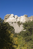 Low Angle View of Mount Rushmore on a Bright Day, from a Distance Photographic Print by Sergio Pitamitz