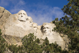 Low Angle View of Mount Rushmore on a Bright Day Photographic Print by Sergio Pitamitz