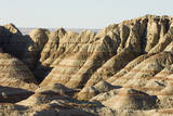 A Scenic View of the Badlands, Showing Sedimentary Layers in the Rock Formations Photographic Print by Sergio Pitamitz