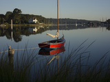 A Small Sloop on the Mystic River Photographic Print by Richard Olsenius
