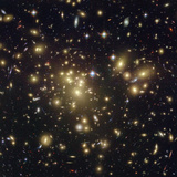 The Massive Galaxy Cluster Abell 1689 Shows Light from More Distant Galaxies Photographic Print
