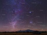 Milky Way, Large Magellanic Cloud, Carina Nebula, 2nd Brightest Star Canopus, and Constellations Photographic Print by Babak Tafreshi