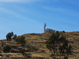 A Church Near Lake Titicaca Photographic Print by Alex Saberi