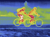 A Thermal Image of Bicycle Riders Photographic Print by Tyrone Turner