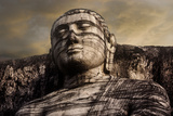 The Head of the Gal Vihara Standing Buddha Statue at Polonnaruwa, Sri Lanka Photographic Print by David Hiser