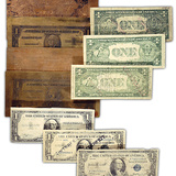 Brass Plates and Counterfeit One Dollar Bills Made by Emerich Juettner, Alias Edward Mueller Photographic Print