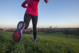 Lizzy Hawker - a World Champion Endurance Athlete Training on Primrose Hill in London Photographic Print by Alex Treadway