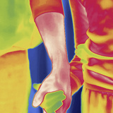 Thermal Image of a Woman and Girl Holding Hands Photographic Print by Tyrone Turner