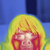 Thermal Image of a 12 Year Old Boy Looking at the Camera Photographic Print by Tyrone Turner