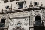 Exterior Detail of El Banco Hipotecario Nacional in Mendoza Photographic Print by Jill Schneider