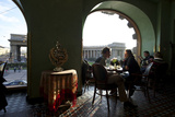 Couple Dinning at Cafe Singer, Famous Cafe Along Nevsky Prospekt Photographic Print