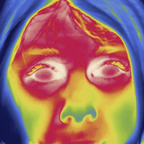Thermal Image of a Girl's Face Photographic Print by Tyrone Turner