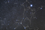 Constellation Canis Major, the Big Dog, with its Notable Star Sirius, the Brightest Star in the Nig Photographic Print by Babak Tafreshi
