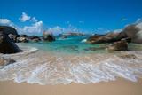 The Baths' Beach on Virgin Gorda Fotografisk tryk af Matt Propert