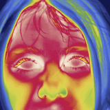 Thermal Image of a 9 Year Old Girl's Face Photographic Print by Tyrone Turner