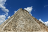 El Adivino, or the Pyramid of the Magician, at Uxmal Sits under Blue Skies and Clouds Photographic Print by Macduff Everton