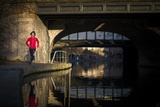 Lizzy Hawker - a World Champion Endurance Athlete - Training Beside Regents Canal in London Photographic Print by Alex Treadway
