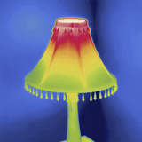 Thermal Image of a Lamp Photographic Print by Tyrone Turner