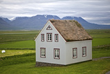 An Icelandic Turf House Photographic Print by Jill Schneider