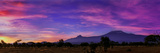 Colorful Clouds at Dawn over Mount Kilimanjaro. the Main Peak Is Kibo; the Smaller Peak Is Mawenzi Photographic Print by Babak Tafreshi
