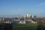 Canary Wharf and the Isle of Dogs in London Seen from the Greenwich Observatory Photographic Print by Alex Treadway