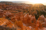 Sunrise Behind the Hoodoos and Spires in Bryce Canyon Photographic Print by Greg Winston