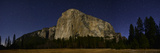 El Capitan from Capitan Meadow in Moonlight, Just before Dawn Fotografisk tryk af Raul Touzon