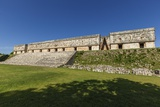 The Palace of the Governor at Uxmal Sits under a Blue Sky Photographic Print by Macduff Everton