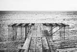 A Dock Leads Toward the Ocean Photographic Print by Andy Bardon