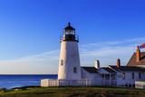 Sunrise at the Historic Pemaquid Point Lighthouse on the Atlantic Coast Fotografisk tryk af Babak Tafreshi