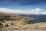 Lake Titicaca and the Cordillera Real Mountain Range in the Background Photographic Print by Alex Saberi