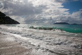 Surf Crashes on the Beach in Cane Garden Bay on Tortola Island Photographic Print by Matt Propert