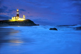 The Montauk Point Lighthouse Shining at Dusk Photographic Print by Robbie George