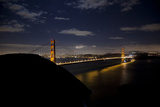The Golden Gate Bridge at Night Photographic Print by Steve Winter