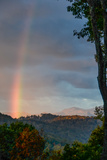 A Rare Morning Rainbow Seen in the East over the Blue Ridge Mountains Photographic Print by Amy White and Al Petteway