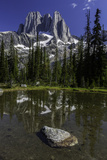 Howser Spires and Evergreen Trees Reflected in a Clear Mountain Lake Photographic Print by Jonathan Irish