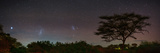 Bright Star Canopus, Large and Small Magellanic Clouds, Red and Green Airglow over Acacia Trees Fotodruck von Babak Tafreshi