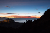 Dusk over the Town of Copacabana and Lake Titicaca Photographic Print by Alex Saberi