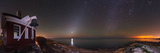Panorama of the Night Sky with Zodiacal Light and Venus. the Milky Way and City Lights on Right Photographic Print by Babak Tafreshi